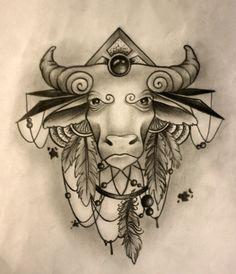 Taurus tattoo sketch by SashaChu