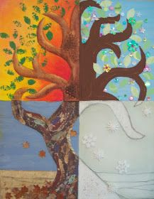 Create a Tree ... Spring, Summer, Fall, and Winter FROM: my artful nest: Tree for all Seasons
