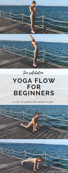 Learn how to do the sun salutation! This yoga flow is perfect for beginners.