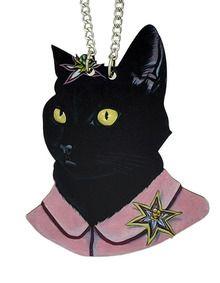 Halskette mit Katze-Anhänger