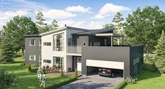 Bilderesultat for flatt tak takterrasse Flat Roof, Mansions, House Styles, Home Decor, Decoration Home, Manor Houses, Room Decor, Villas, Mansion