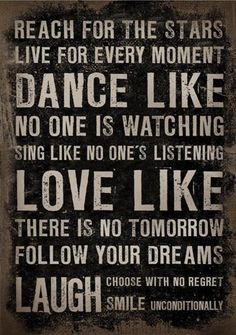 Dance like no one is watching    Canvas frame voor-thuis.nl