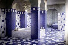 Souk Moroccan Blue Hexagon Tiles 15x15cm 72p per tile