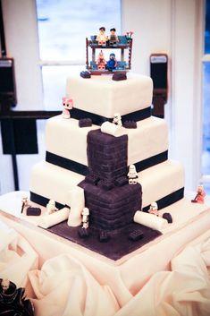 Star Wars Lego Wedding Cake | Carrie Jeffreys Photography
