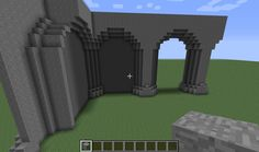 minecraft castle wall designs - Google Search