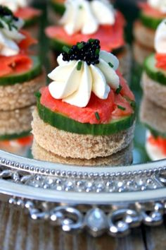 Smoked Salmon and Cucumber Hors d'oeuvre