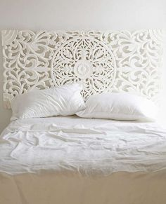 Wall art instead of head board