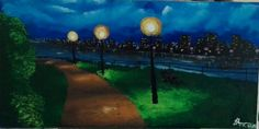 City lights in green by tau karabo ledwaba