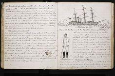La 'British Library' publicará el diario escrito por Arthur Conan Doyle en 1880 durante su viaje por el Ártico como cirujano en un barco ballenero llamado 'The Hope' ('La Esperanza').Fragmento del libro, con anotaciones y dibujos. | The British Library