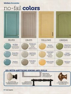 66639269461053347 HGTV No Fail Colors.pretty much my color scheme in our house. Plus a couple of other colors thrown in here and there. - Decoration for House Wall Colors, House Colors, Paint Colours, Best Decor, Guest Bedrooms, Master Bedroom, Diy Bedroom, Kitchen Colors, Kitchen Yellow