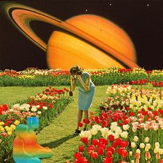 Visiting of the children Photo by Mariano Peccinetti Collage Art Space Phone Wallpaper, Planets In The Sky, Wall Prints, Canvas Prints, Grunge, Aesthetic Space, Hippie Art, Surreal Art, Surreal Collage