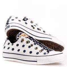 Converse All Stars - Love the Polka Dot Chucks White/ Navy
