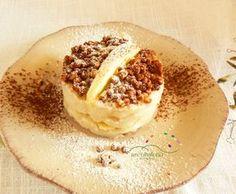Crema di mele guarnita con croccante di miglio soffiato