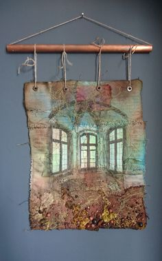 Fur Immer Original Textile Art by Gothic Decay Hand Embroidery, Machine Embroidery, Dragonfly Art, Art Base, Textile Artists, Wool Felt, Fiber Art, Vintage World Maps, Gothic
