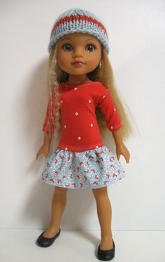 Hearts 4 Hearts Doll Clothes Spring Dots by 123MULBERRYSTREET