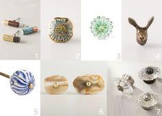 Round up of Decorative Knobs | Indigo & Honey