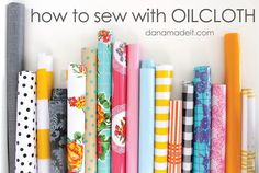 How to Sew with Oilcloth + Geo Garland project | MADE