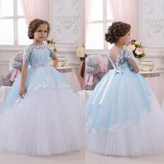 First Communion Dresses For Girls Cherubic Children Pageant Dresses Appliques…