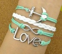Infinity, Love & Anchor Bracelet- Need this!