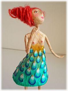 Nu Paper Clay Art, Paper Mache Clay, Paper Mache Sculpture, Paper Mache Projects, Paper Mache Crafts, Doll Crafts, Hobbies And Crafts, Arts And Crafts, Paper Mesh