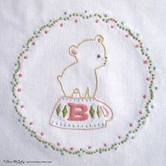 Embroidery Pattern PDF B is for Bear In a Little от sherimcculley