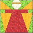 Angel Paper Piecing Quilt Block-links to site for sale