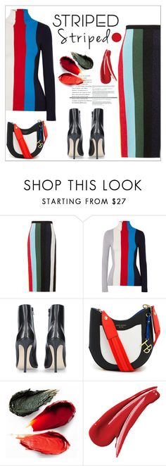 """Pattern Challenge: Stripes on Stripes"" by amchavesj-1 ❤ liked on Polyvore featuring Diane Von Furstenberg, JoosTricot, Henri Bendel, Rituel de Fille, stripesonstripes and PatternChallenge"