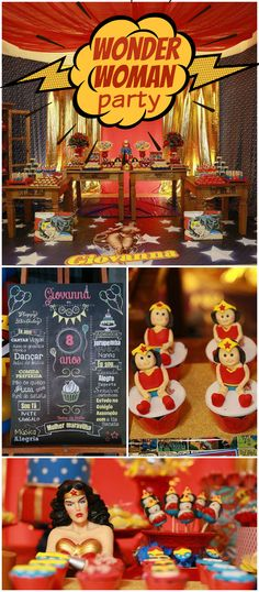 How amazing is this Wonder Woman party?! See more party ideas at CatchMyParty.com!