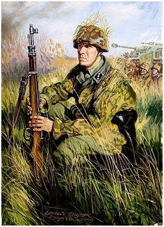 """Waffen SS - Comandante del Battaglione  estone 'Narva', 5ª Waffen SS Panzerdivision """"Viking"""". Poznyak Sergey"""