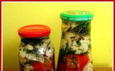 Retete Culinare - Conopida cu ardei capia Mason Jars, Food, Canning, Salads, Eten, Canning Jars, Meals, Glass Jars, Jars