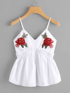 Shop Symmetric Flower Patch Frilled Babydoll Cami Top online. SheIn offers Symmetric Flower Patch Frilled Babydoll Cami Top & more to fit your fashionable needs.