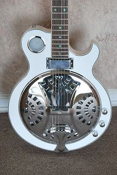 DOBRO ELECTRIC ACOUSTIC RESONATOR GUITAR ABALONE INLAY -SD01OG
