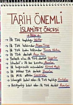 YKS Tarih #yks #tarih #tyt #yks2020 Do Homework, School Notes, Study Inspiration, Study Notes, Study Tips, Education, Bullet Journal, Words, School Grades