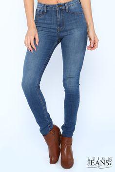 Cecelia Women's Skinny Jeans by Luigi Jeans (in soft blue - front view)  #luigijeans #luigijeansusa #keepamericaworking #wearyourattitude #madeinusa #americanmade #perfectfit www.luigijeans.com
