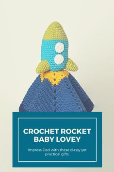 Adorable, baby, crochet, lovey. Blanket, rocket, sweet #ad