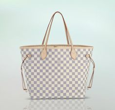 Neverful MM Damier Azur Bag — Louis Vuitton, my next purchase. I what this for the summer!!!!!