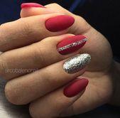 10 bedårende Disney Princess-manikyr for kveden din! Manicure, Aycrlic Nails, Gold Nails, Red And Silver Nails, Purple Nails, Christmas Gel Nails, Holiday Nails, Elegant Nails, Classy Nails