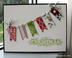 great way to use up scraps Stampin' Up!