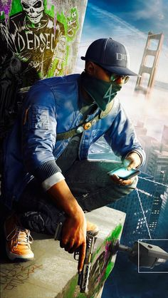 Watch Dogs Marcus Holloway render by DigitalZky on DeviantArt Game Wallpaper Iphone, 4k Wallpaper For Mobile, Hd Phone Wallpapers, Joker Wallpapers, Gaming Wallpapers, Galaxy Wallpaper, Cute Wallpapers, Hacker Wallpaper, Dog Wallpaper