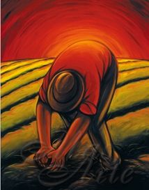 Campesino No other work gets us close to nature and reveals the greatness Of God. We can all learn a lesson or two from Campesinos whom endure great hardships and yet remain invisible. Mexican Artwork, Mexican Paintings, Mexican Folk Art, Hispanic Art, Latino Art, Mexico Art, Mexican Artists, Chicano Art, Southwest Art