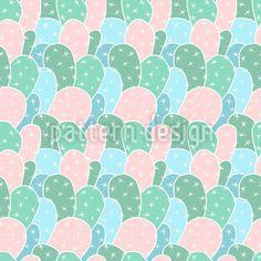 Überall Kakteen Rapportiertes Design by Figen Topbas Fukara at patterndesigns.com