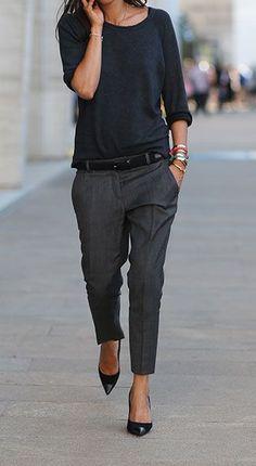 Pantalon neutre ample