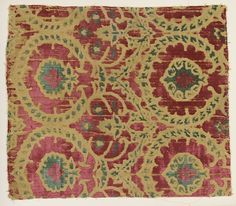 Fragment Date: 15th–16th century Culture: Northern Italian Medium: Silk Dimensions: Overall: 19 3/4 x 17 1/4 in. (50.2 x 43.8 cm) Classification: Textiles-Velvets