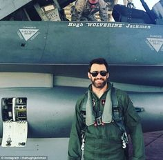 Call sign Wolverine! Hugh Jackman posted a snap of himself standing in front of the jet he flew in February to promote a film in celebration of the 30th anniversary of iconic fighter pilot film Top Gun
