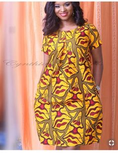 Beautiful Multicoloured African Dress I came across these beautiful African Print Dress. It is stunning and can be worn on many instances. I like to style it up or down depending on the occasion. Short African Dresses, Latest African Fashion Dresses, African Print Dresses, African Print Fashion, Africa Fashion, Ankara Fashion, Tribal Fashion, African Prints, African Fabric