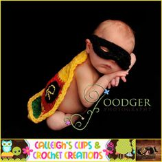 Crochet Pattern - Batman and Robin - Cuddle Critter Cape Set - Newborn Photography Prop -  $5.95