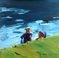 Birgit Schweiger LAZY SALZBURG I 2014 40 x 40 cm Oil - canvas