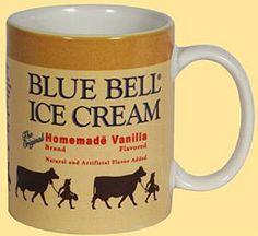 Blue Bell Ice Cream mug! I need this.