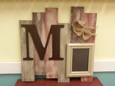 Pallet wood sign and frame , vintage, personalized family photo display for home decor or weddings,and anniversaries on Etsy, $30.00