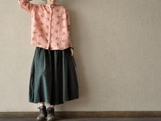 Hey, I found this really awesome Etsy listing at http://www.etsy.com/listing/128176980/pink-long-sleeve-linen-loose-cotton